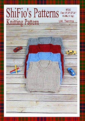 Knitting Pattern -KP262 - Childs V Neck Pullover - Chest - 18