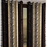 Honey Traders 2 Piece Eyelet Polyster Window Curtain - 5ft, Multi-Brown