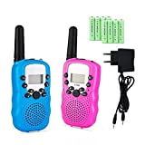 Lomoo Talkies Walkies Rechargeables, Enfants Talkie Walkies Rechargeable 3 km de Long...
