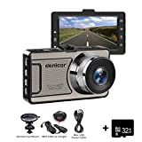 Dash Cam Telecamera per Auto Camera Car 1080p, Obiettivo Grandangolare di 170 Gradi, Visione Notturna, Rilevatore di Movimento,WDR, Registrazione in Loop, G-Sensor e 3.0' Schermo LCD