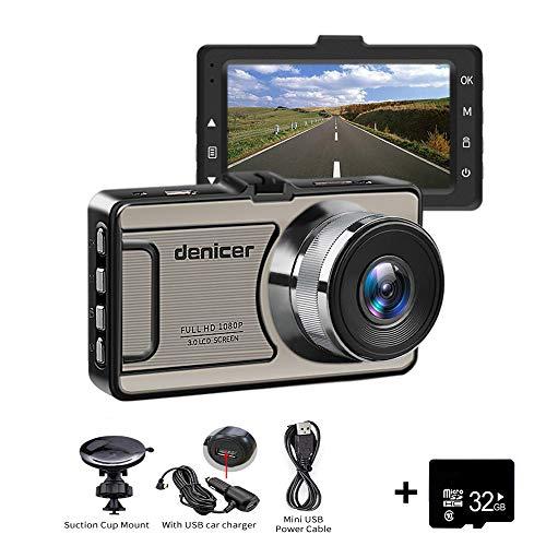 Dash Cam denicer 1080P Auto DVR Dashboard Kamera Full HD 170 ° Grade Ultra Weitwinkel-Objektiv 6 g, 1200 Mega, Weitwinkel, WDR, G-Sensor, Loop Aufnahme Night Vision mit 32 G SD HD Karte