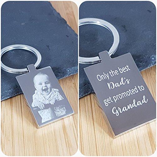 Birthday Present Engraved Photo Keyring