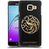 Officiel HBO Game Of Thrones Or Targaryen Symboles Embossed Étui Coque D'Arrière Rigide Pour Samsung Galaxy A3 (2016)