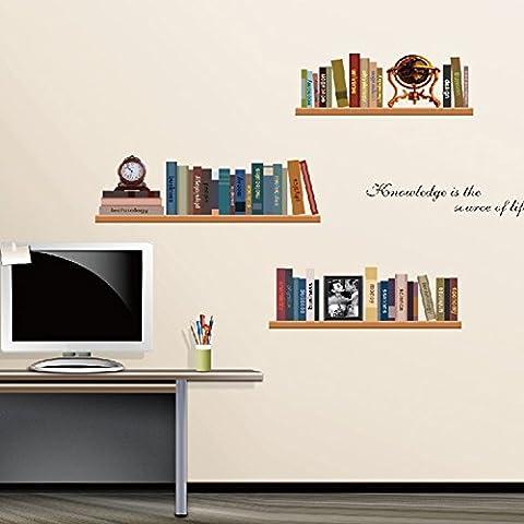 Stickers Etagere - Wallpark Rétro Étagère à livres Enseigner Livres