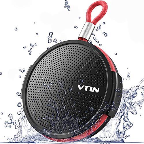 Altavoz Bluetooth Portátiles, VTIN Sonido con Estéreo Premium 7W, Mini Altavoz IPX5 y TF Tarjeta con Micrófono y Manos Libres, 8-10 Horas de Emisión Continua para Playa, Ducha, Viaje y más.