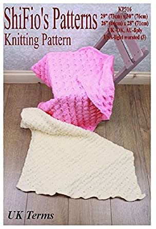 Knitting Pattern Kp316 2 Knitted Baby Afghanblanket Uk