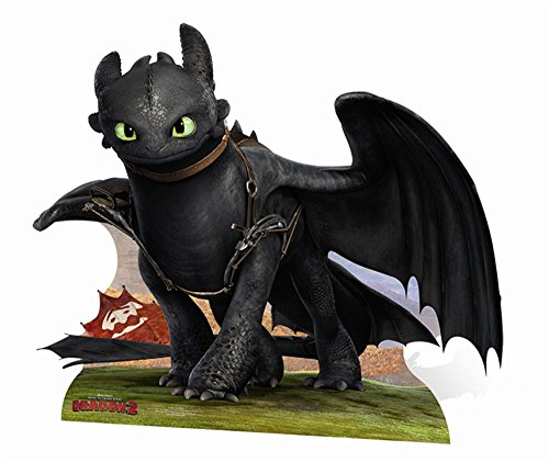 Empire Interactive 663962 - Exhibitor figure (137 cm, cardboard), Night Fury design of How to train your dragon 2