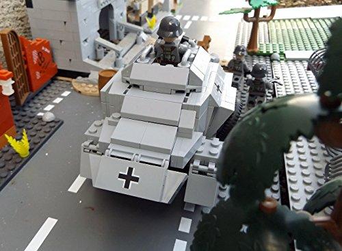 Cobi 2366 Sonderedition – Panzerspähwagen Sd.Kfz. 222 inkl. custom Wehrmacht Soldat aus original Lego© Teilen - 5