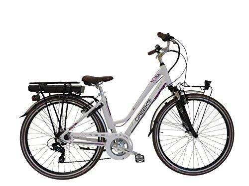 Creek's Bicycle E-York Vélo électrique Femme, Blanc