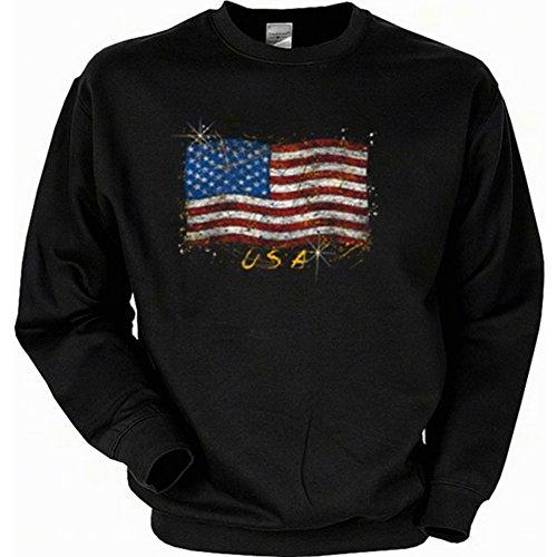 nische Flagge - Stars and Stripes - USA Pullover mit Motiv als Geschenk für Amerika Fans (Baseball-geburtstags-einladung)
