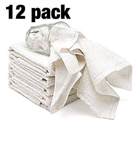 Bar Mop-Reinigungs-Küche Geschirrtuch Handtücher aus 100% Baumwolle, maschinenwaschbar, Alltägliche Küche Grundprogramm Bar Mop Dishcloth Satz von 12, 12
