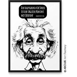 Der Hauptgrund für Stress ist der tägliche Kontakt mit Idioten ABOUKI Kunstdruck Poster Bild Geschenk-Idee Mann Frau…
