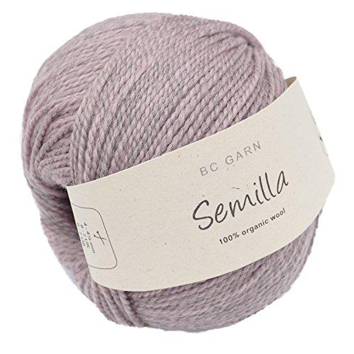 Biowolle BC Garn Semilla Fb. 105 Altrosa, 50g Reine Schurwolle zum Stricken & Häkeln, Babywolle Bio -