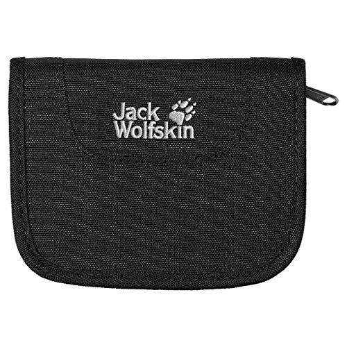 Jack Wolfskin Très grand portefeuille zippé avec de nombreux compartiments Black Taille unique
