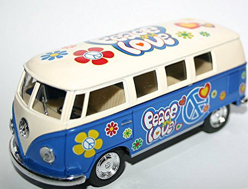 VW Volkswagen Camper Van Waage Modell Frieden Liebe Blume Power Vehicle Modell