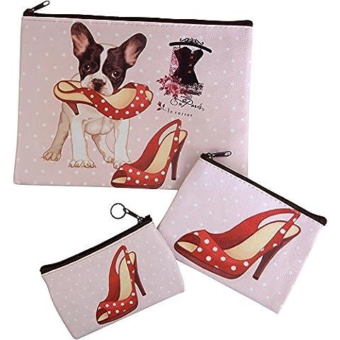 Naughty Dog con Set di borse scarpe rosse