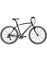 'Bicicleta Híbrida Cicli Adriatica Boxter Fy de hombre con marco de aluminio, ruedas de 28, Shimano 21 velocidades, negro