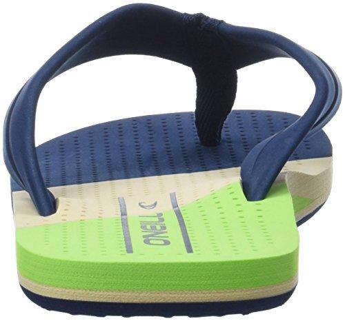 O'Neill Fm Imprint Punch Flip Flops, Chaussures de Plage et Piscine Homme Vert (Fluor Green)