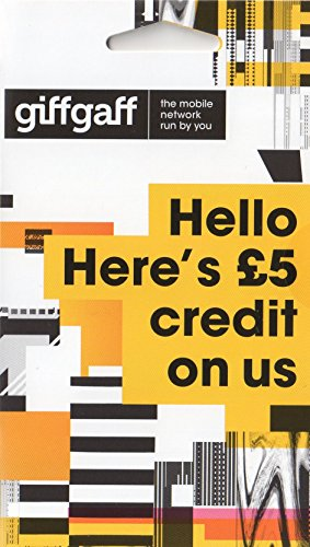 Giffgaff Nano/Micro/Standard SIM. Top Tariff Offers Unlimited Calls, Text, Internet Data. Great Peace of Mind Sim - Just Pay As You Go - no Contract. Multi Size, Fits All Devices. £5 Bonus Credit When You Topup £10 First Time.