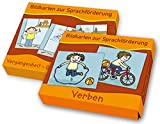 """PAKET Verben: Bestehend aus """"Vergangenheit – Gegenwart – Zukunft"""" und """"Verben"""" (Bildkarten zur Sprachförderung)"""