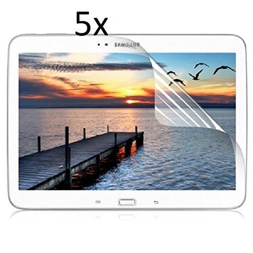 5x Displayschutzfolie für Samsung Galaxy Tab 3 10.1 (GT-P5200) Original von Saxonia. Kristallklar in bester Qualität inkl. Mikrofasertuch - Klar | 5er Pack (Spar Set)