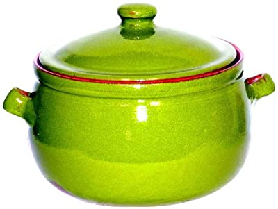 Amazing Cookware 1.5 Litre Terracotta Stew Pot -'Pearlescent Green' from Amazing Cookware