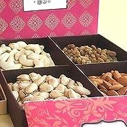 Delight Foods Premium Assorted Dry Fruits Gift Box - (Cashews 100g, Raisins 100g, Almonds 100g & Pista 100