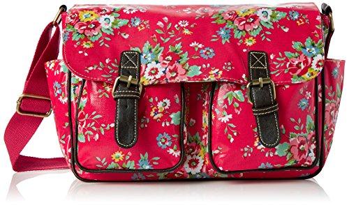 Swanky Swans - Jenny Floral, Borse a secchiello Donna Rosa (Pink)