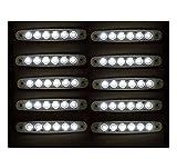 10 X 24V 6 SMD LED FEUX DE GABARIT LATERAUX BLANC POUR CAMION CARAVANE SHASSIS REMORQUE TRACTEUR FOURGON
