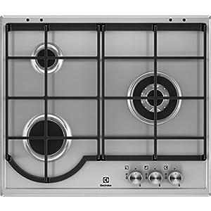 Electrolux EGH6333BOX hobs Acero inoxidable Integrado Encimera de gas – Placa (Acero inoxidable, Integrado, Encimera de gas, Acero inoxidable, 1000 W, 2,4 cm)