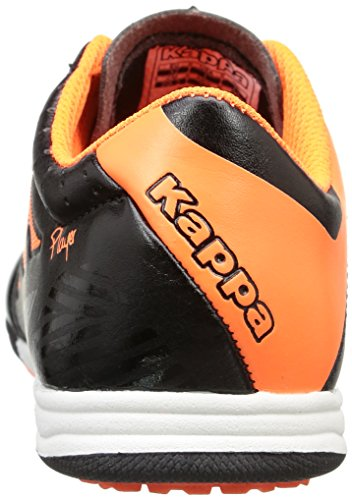 Kappa - 4 Soccer Player Tg, Scarpe da Football americano Unisex – Bambini Noir (Black/Orange Fluo)
