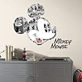 RoomMates RMK2860TB Mickey Mouse Comic Peel & Stick Wall Graphic, 4 Count
