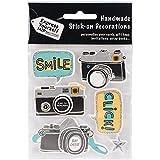 Express Yourself MIP Kamera und Smile 3D Aufkleber, Acryl, mehrfarbig, 3-teilig