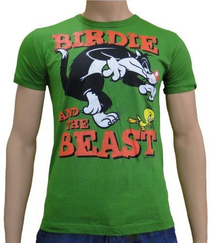 looney-tunes-birdie-and-the-beast-logo-t-shirt-s-a-xxl-xl-vert-vert