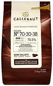 Callebaut Chocolate Dark 70.4 Percent Easi-Melt Buttons Callets 2.5 Kg