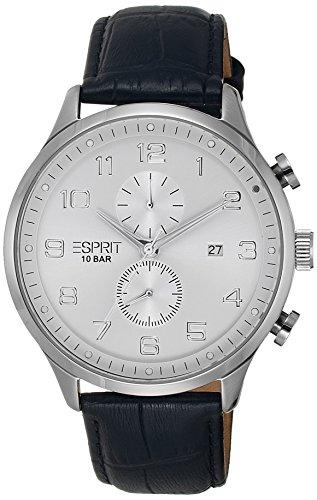 Esprit Herren-Armbanduhr XL Cerritos Chronograph Quarz Leder ES105581002