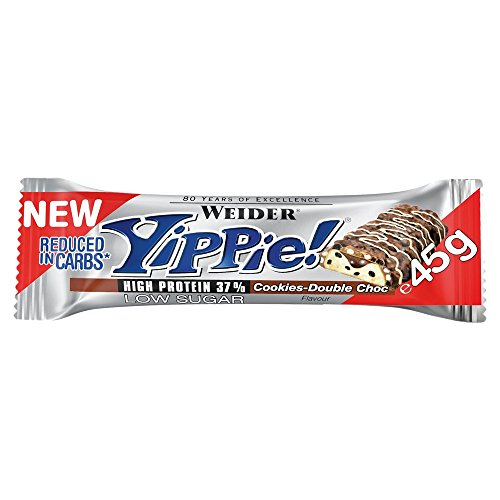 Weider Yippie. Bar 45 g 1 cerrojo Cookies Double Chocolate