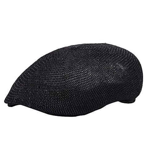 Beret Femme Noir - Leisial Unisexe Bérets Casquette Chapeau en Feutre