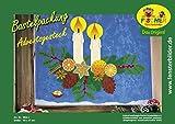 Fischer Fensterbild ADVENTSGESTECK / Bastelpackung / ca. 60x47 cm / zum Selberbasteln / Basteln mit Papier und Pappe für Weihnachten