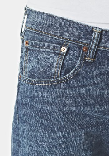 Levi's Herren Jeans 501 Original Straight Fit Blau (Hook 1307)