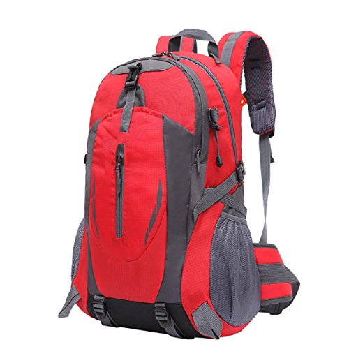 OGERT Borsa A Tracolla Sport All'aria Aperta Grande Capacità Di Alpinismo Zaino,Blue Red