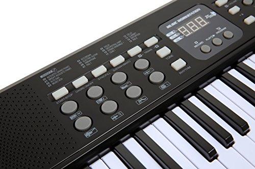 AXMAN T315853 Keyboard inkl. Mikrofon und Netzteilanschluß, 54 Tasten, batteriebetrieben 6 x AA (nicht im Lieferumfang enthalten) - 3