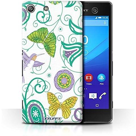 Custodia/Cover Rigide/Prottetiva STUFF4 stampata con il disegno Primavera per Sony Xperia M5 - Giallo/bianco - M5 Primavera
