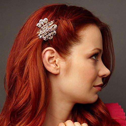 Haarschmuck Blumen Haarschmuck-Blumen Haarspange Rosegold Haarschmuck Hochzeit Haarklammer Haarkralle Haargreifer Haar-Accessoire Blumen Haarschmuck...