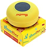 Showermate Wireless Bluetooth Lautsprecher | Wasserdichtes Duschradio mit Freisprecheinrichtung und eingebautem Mikrofon | Kompatibel mit allen Bluetooth Geräten - Gelb