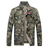 Herren Denim Mantel,Herren Camouflage Jeanscoat Jacket Outdoor Winterjacke Steppjacke Trekking Mantel