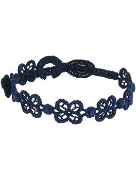 Schmuck Les Poulettes - Cruciani Lace Armband Happy Blau Navy Farbe