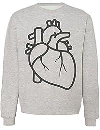 Elegant Minimalistic Heart Sudadera Unisex