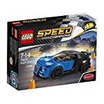 Gear up for quad turbocharged action with this buildable Lego speed champions version of one of the world s most exclusive hyper cars—the bugatti chiron. This vehicle features wheels with rubber tires, a removable windshield plus iconic and realistic...