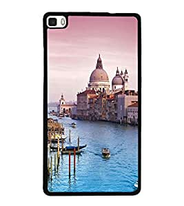 printtech Italy Sea Building Dome Back Case Cover for Huawei Honor P8